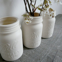Porcelain Mason Jar Vase, Ball Perfect Mason