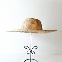 Vintage COUNTRY HARVEST Tan Straw Hat - Small