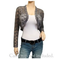 Plus Size Cropped Floral Lace Bolero Shrug: Amazon.com: Clothing