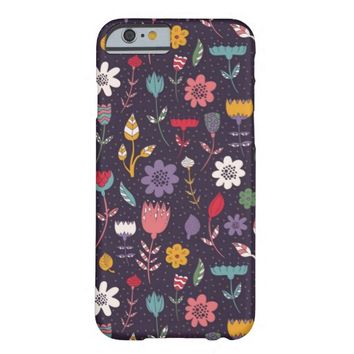 Abstract Colorful Spring Flower Pattern iPhone 6 Case