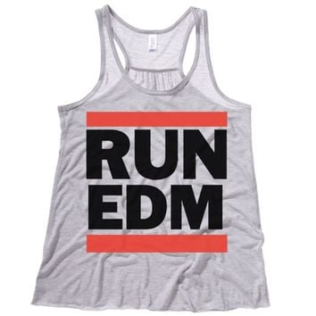 Run EDM Womens Flowy Tank