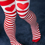 Socks  Socks  Sweetheart Striped Thigh High  Sock Dreams