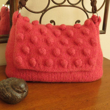Berry Bobble, Felted Purse Pattern, Knit Bag Pattern, Felted Purse, Knitted Purse, Knitting Pattern, Instant Download, PDF