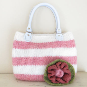 Girls Purse, Felted Purse Pattern, Knit Bag Pattern, Felted Purse, Knitted Purse, Knitting Pattern, Instant Download, PDF