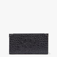 Sleek Croc Prisma Wallet