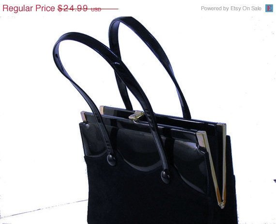 More than 20% OFF SUMMER SALE Vintage Black Bag