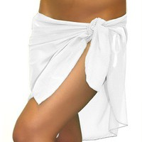 Sarong White Mesh Short Bathing Suit Wrap - Chynna Dolls