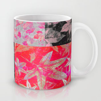 Just Leave in Pink Mug by Nina May Designs