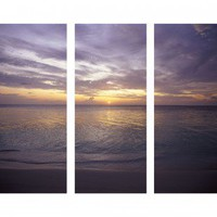 "Graham & Brown Sunset At Sea Printed Canvas Art - 40"" X 48"" (Set of 3) - 43288"