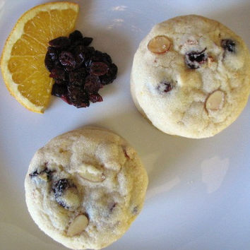 Cranberry Orange Almond Cookies 1 Dozen - Qs Goodies