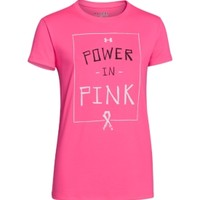 Under Armour Girls' Power In Pink Graphic T-Shirt - Dick's Sporting Goods