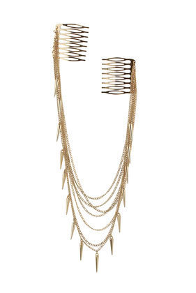 Multi Chain Spike Twin Comb - Hair Accessories  - Accessories