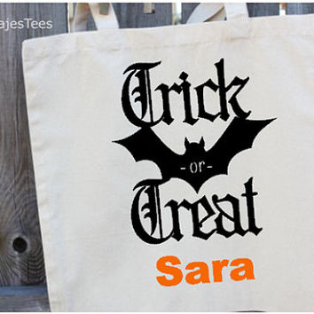 Trick or Treat Bag, Personalized, Custom Halloween bag