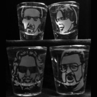 Set of 4 Big Lebowski Shot Glasses
