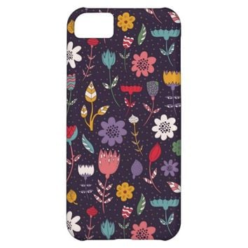 Abstract Vintage Spring Flower Pattern iPhone 5C Cover