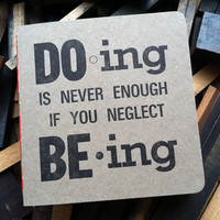 Letterpress Journal - Inspirational Quote - BIMPRESSED
