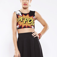 Ka-Pow Blast Crop Top
