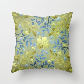 Olivia Throw Pillow by Lisa Argyropoulos