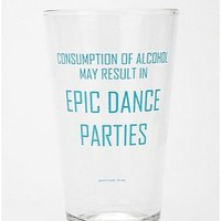 UrbanOutfitters.com &gt; Epic Dance Party Pint Glass