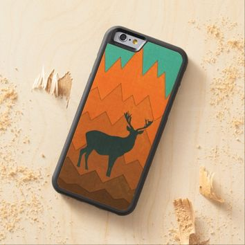 Deer silhouette autumn fall colorful design