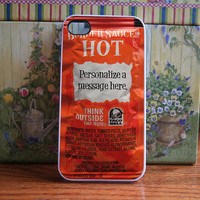 Taco bell packet HOT personalized - iPhone 4S and iPhone 4 Case