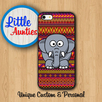 ELEPHANT Red AZTEC CASE iPhone 5S Case Big Clever Animals iPhone 4S Fat Funny iPhone 6 Samsung Galaxy S5 S4 S3 Cover Personalized iPhone 5C