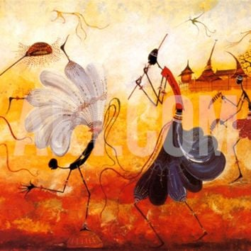 Dancers Art Print by Kalidou Kassé at Art.com