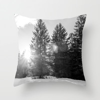 Winter Forest Throw Pillow by Pati Designs | Society6