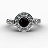 Black Diamond engagement ring, Diamond ring, Bezel, Halo engagement, engagement ring, black Diamond, micro pave, Halo