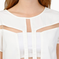 Back Stage Party Crop Top $32