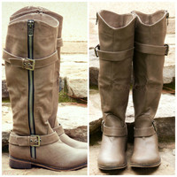Saddle Creek Beige Boots