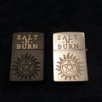 "Supernatural ""Salt -n- Burn"" Zippo Lighter"