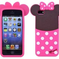 Huaxia Datacom Cute Cartoon Disney Monster University Animals Soft Silicone Back Case Cover for Apple iPhone 5 5S (not for 5C) - Minnie
