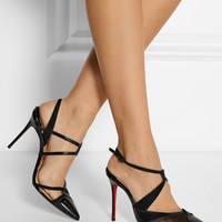 Christian Louboutin - Evoluta 100 leather, suede and mesh pumps