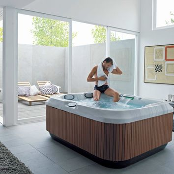 Above-ground hydromassage hot tub 3-seats J-315 J-300 Collection by Jacuzzi Europe