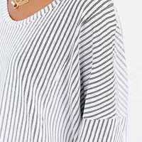 The Furies Uchi Striped Tee- White