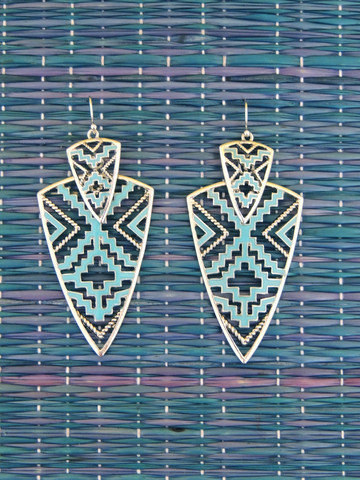 Bow and Arrows Earrings in Turquoise -  $18.00 | Daily Chic Accessories | International Shipping