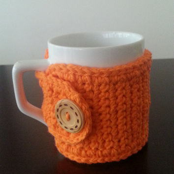 Coffee Mug Cozy in Orange