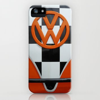 VW Checkers iPhone & iPod Case by Alice Gosling