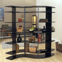 Curved Shelving | 5 Foot Tall Room Divider by Smart Furniture