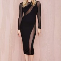 Nasty Gal Swerve Out Midi Dress