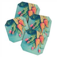 Olivia St Claire The Beat Goes On Yellow Coaster Set - 4 Coasters
