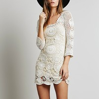 Spell Womens Havana Crochet Mini - Ivory