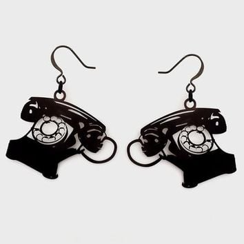 Rotary Telephone Earrings