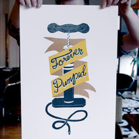 Forever Pumped - A Letterpress Bicycle Poster