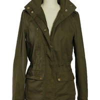 Incognito Military Utility Jacket - Olive | Daily Chic
