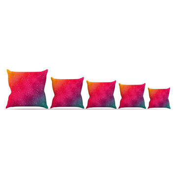 "Fotios Pavlopoulos ""Colorful Constellation"" Pink Glam Throw Pillow"