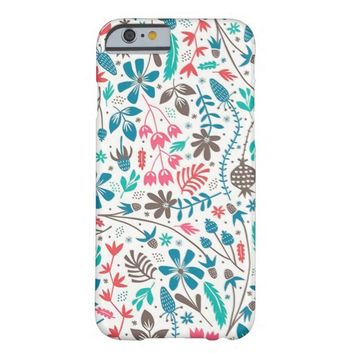 Elegant Trendy Modern Floral Pattern iPhone 6 Case