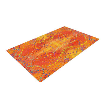 "Nikposium ""Sunrise"" Orange Gold Woven Area Rug"