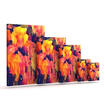 "Kathryn Pledger ""Geo Flower"" Outdoor Canvas Wall Art"
